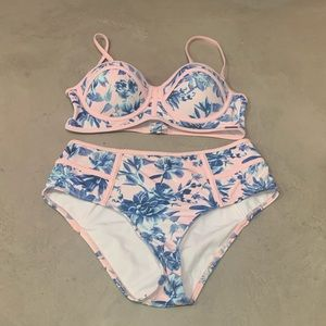 ASOS Swim - Free Society Floral High Waisted Swimsuit